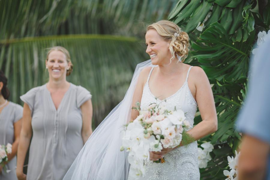 smiling bride photographer
