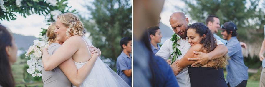 wedding hugs on maui