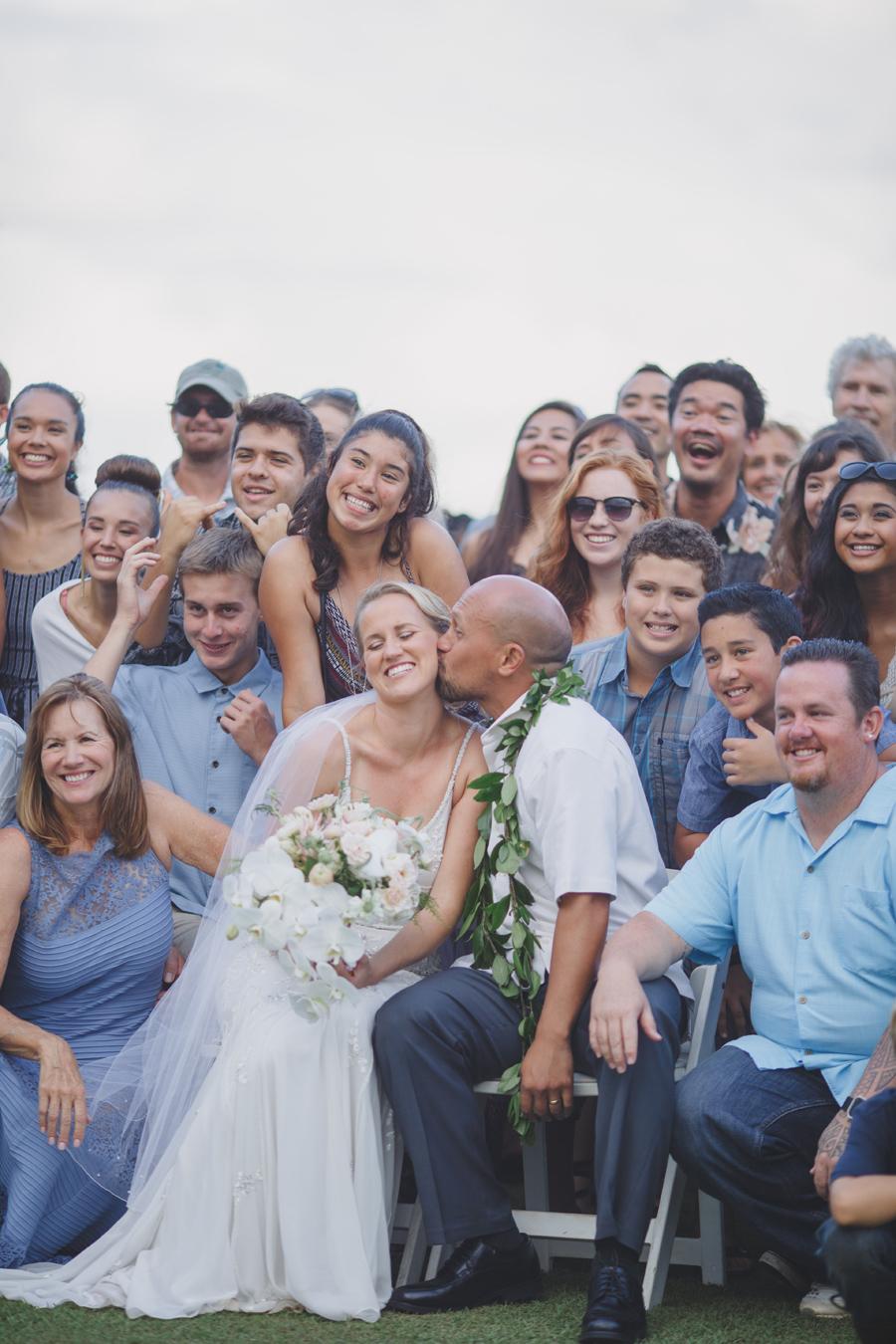 maui wedding large group photography