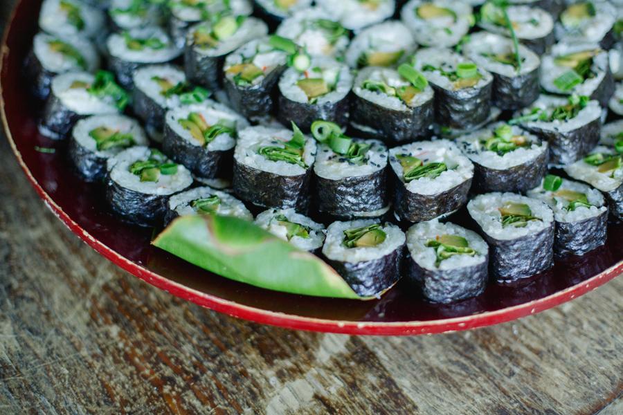 sushi wedding pupus
