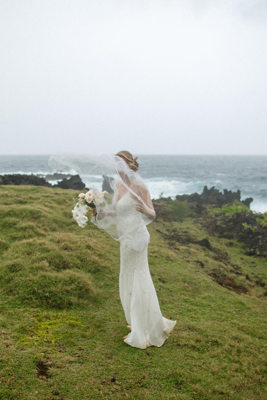 hana maui wind bridal portrait