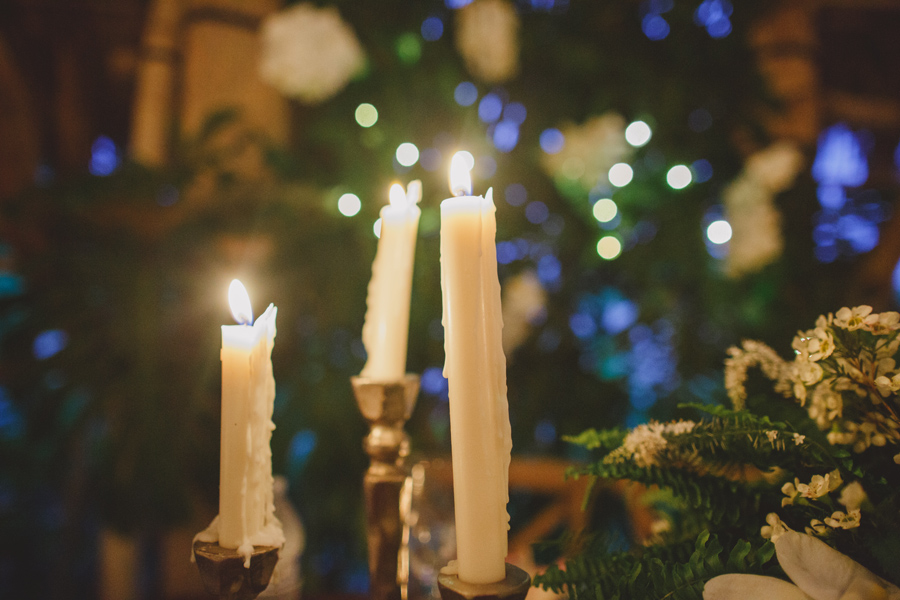 Maui wedding reception candles
