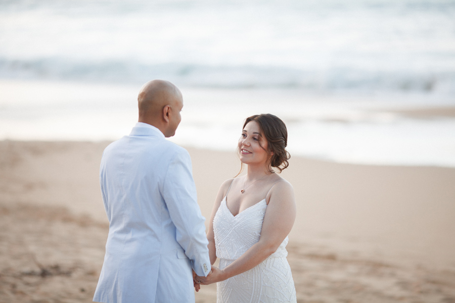 bride and groom kauai