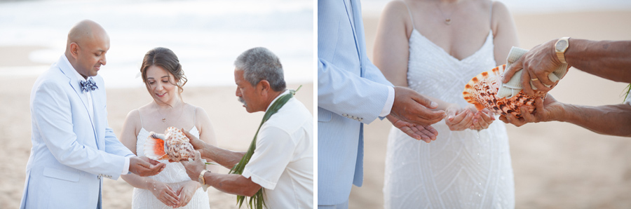kauai wedding shell ceremony
