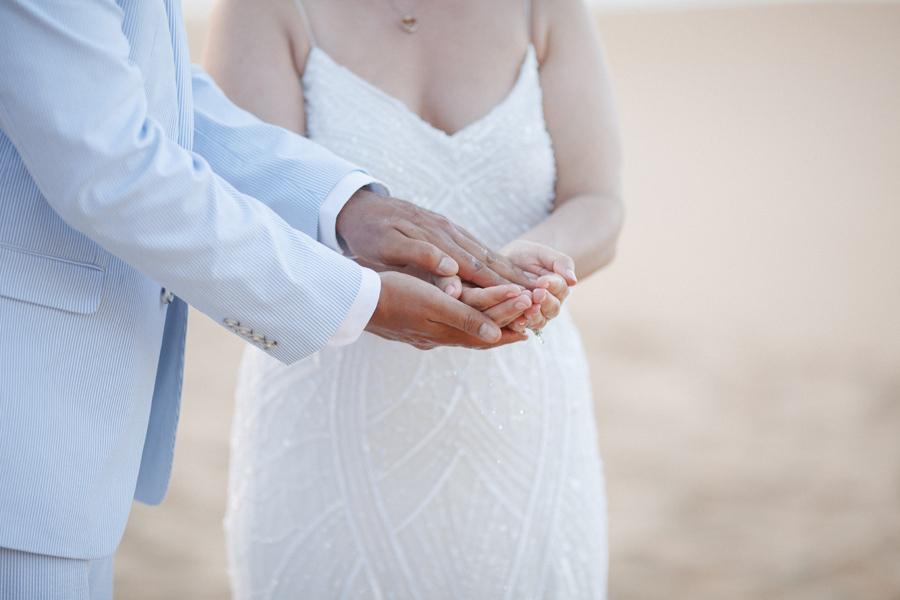 kauai hand washing wedding ceremony