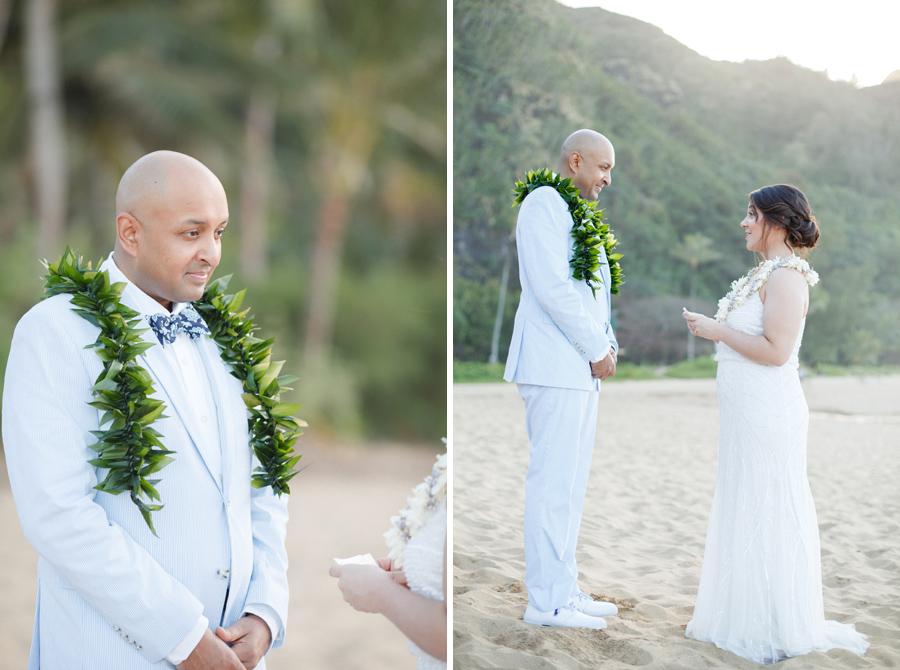 vows at tunnel beach