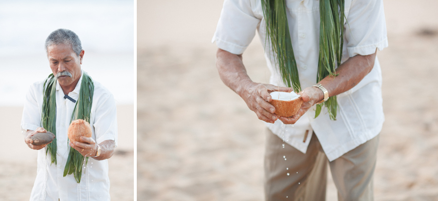 coconut ceremony by reverend ho
