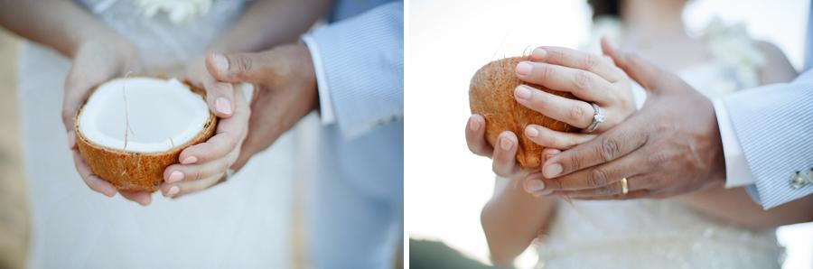 kauai elopement coconut ceremony