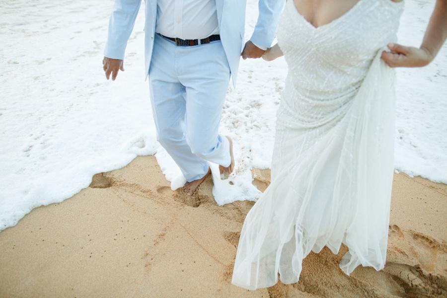 kauai north shore beach elopement