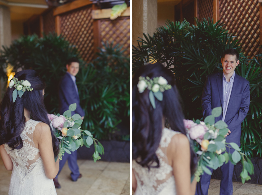 first look wedding photographer