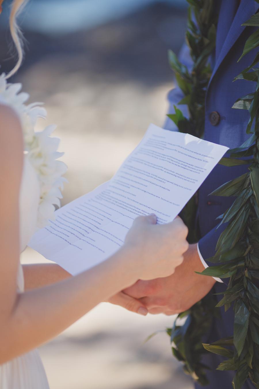 Maui Wedding Vows