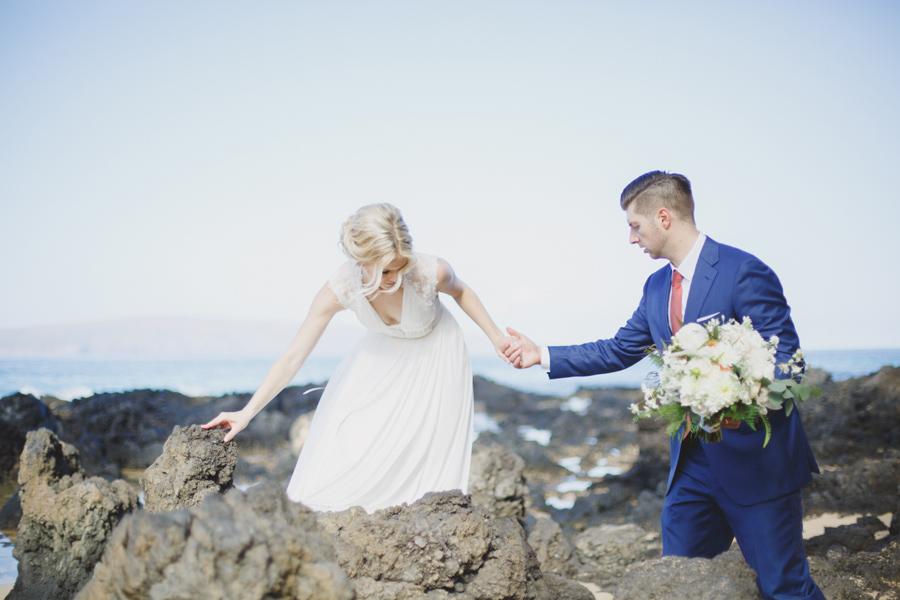 Bride And Groom Maui Wedding photography