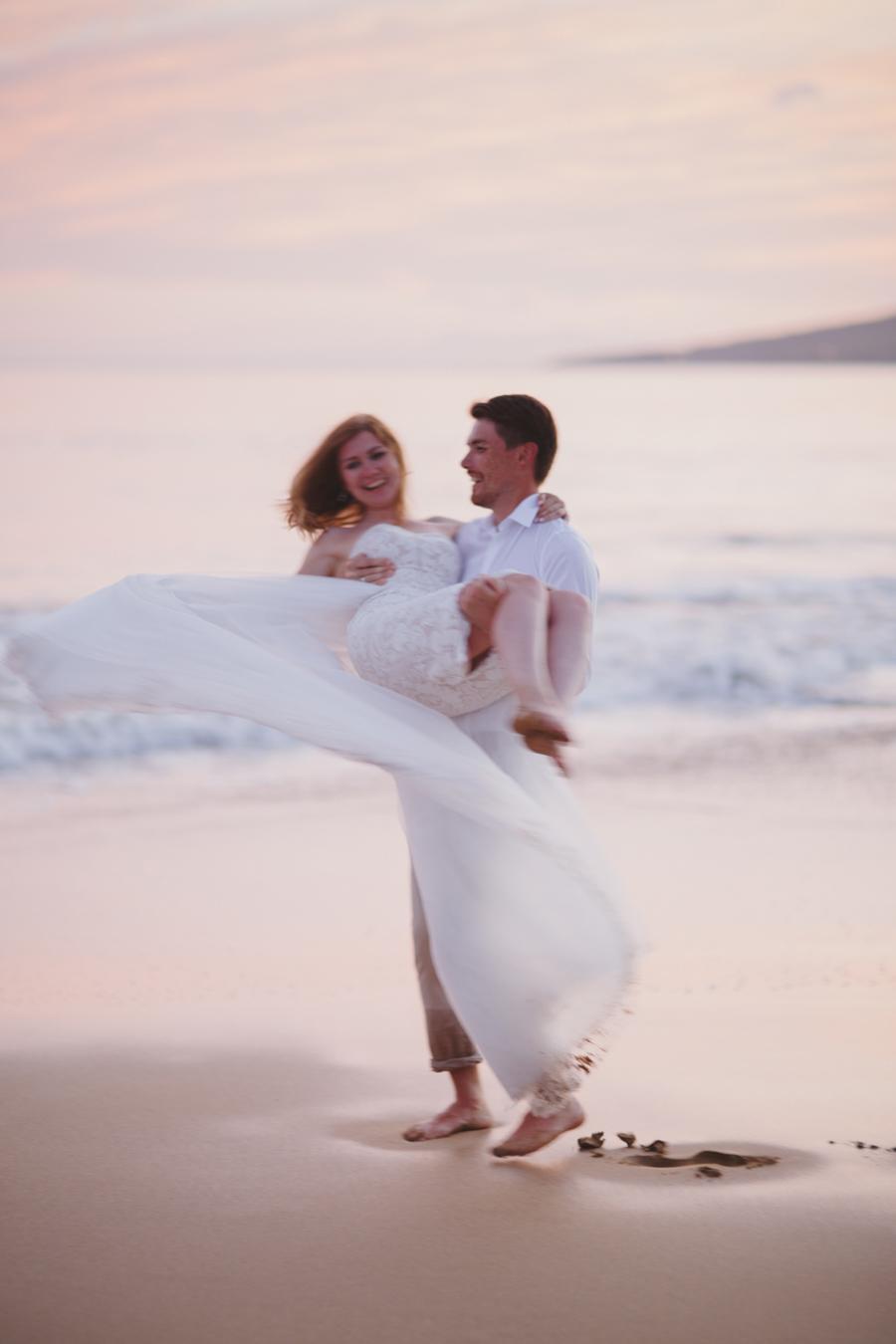 Romantic Beach Wedding Photography