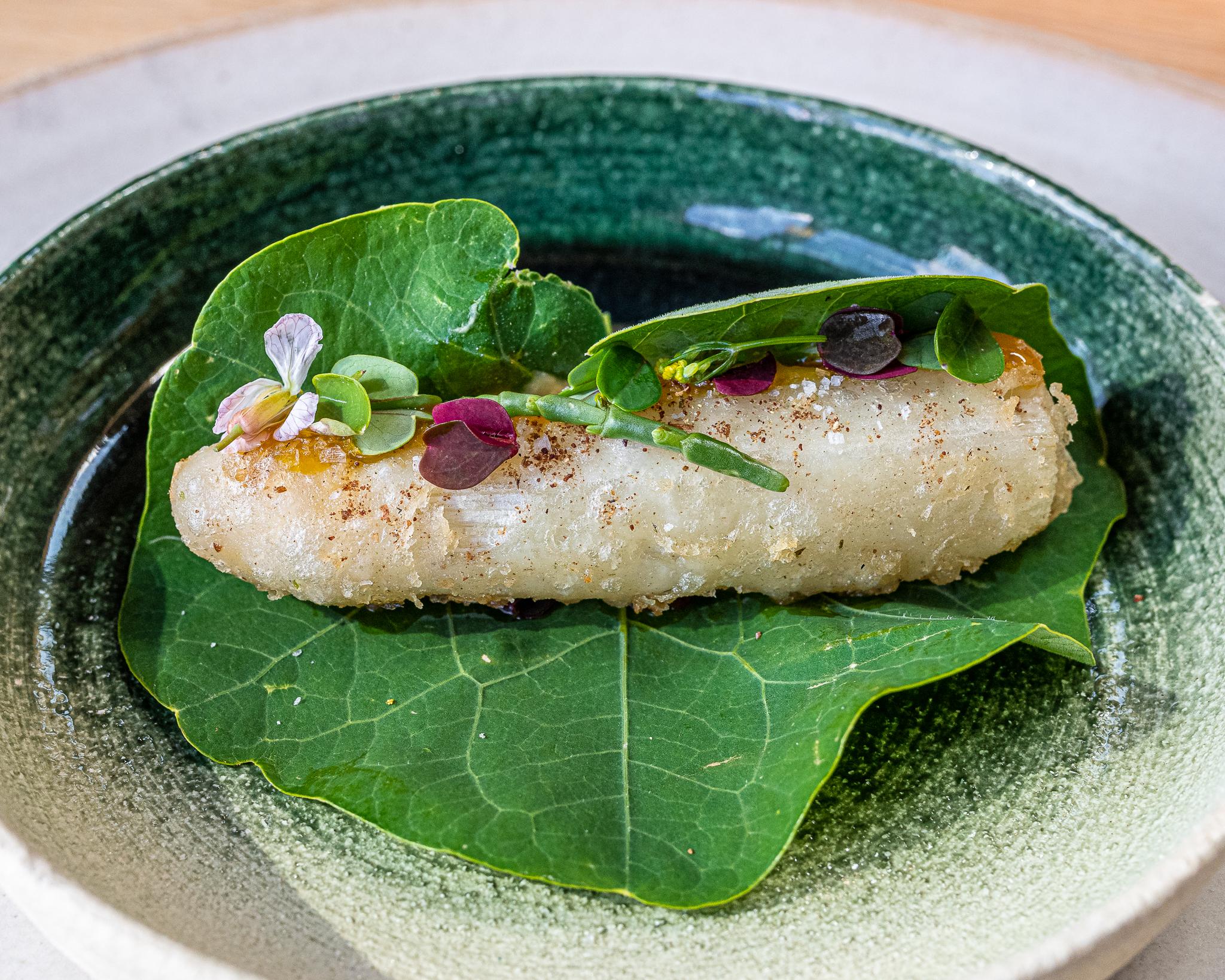 White Asparagus with Egg Yolk Sauce