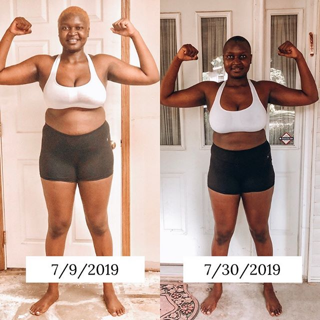 """Dear Linda McGee,  Thank you so much for not giving up on yourself. Thank you for keeping the promise of getting healthier and fit. The promise to show up daily for yourself and to keep going no matter what. I know it hurt on some days. I remember on July 2nd, you fell down the stairs and bruised your shins, hit your knee and your left side hurt but that didn't stop you from waking up the next day and going at it again.  Thank you for not giving up even on the mornings when you didn't want to wake up and do it. Thank you for following through on your WORD. You just proved to yourself that you can do whatever you put your mind to, no matter the obstacles or hardships you're going through.  The old you was a quitter. You quit when it hurt, you quit when you missed a couple of days, you quit when you got distracted but this new you is AMAZING. She finally knows that if you want something, you've got to work hard for it. You must show up everyday even when you don't feel like it.  All I can say is THANK YOU for showing up and showing out everyday. You just proved yourself wrong because the old you thought that it was """"not true of you"""" but;  You can be consistent. You can be fit and healthy. You can change your life. You can show up everyday. You can change.  You did it and I'm so proud of you.  Yours lovingly Linda Achola"""