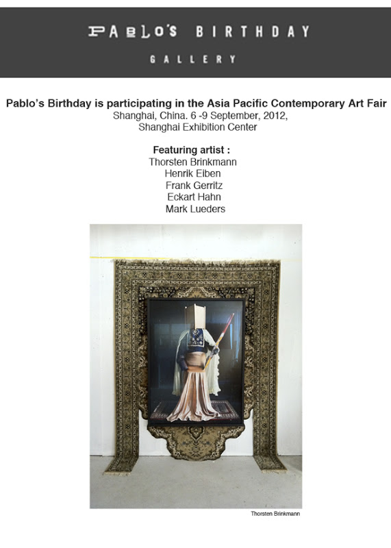 PABLO'S BIRTHDAY IN THE ASIA PACIFIC CONTEMPORARY ART FAIR - SHANGHAI, CHINA.
