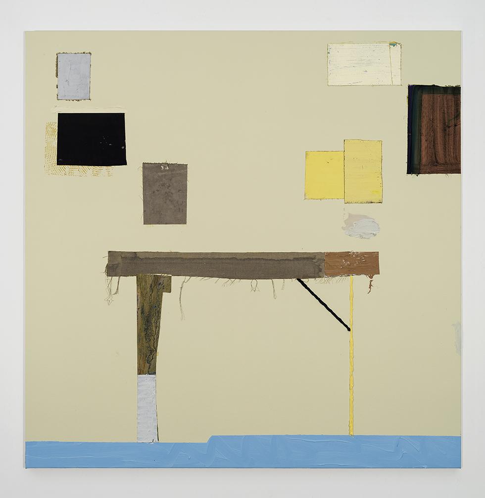 Paul's Studio, 157 cm x 157 cm, oil and collage on canvas, 2015_sm.jpg