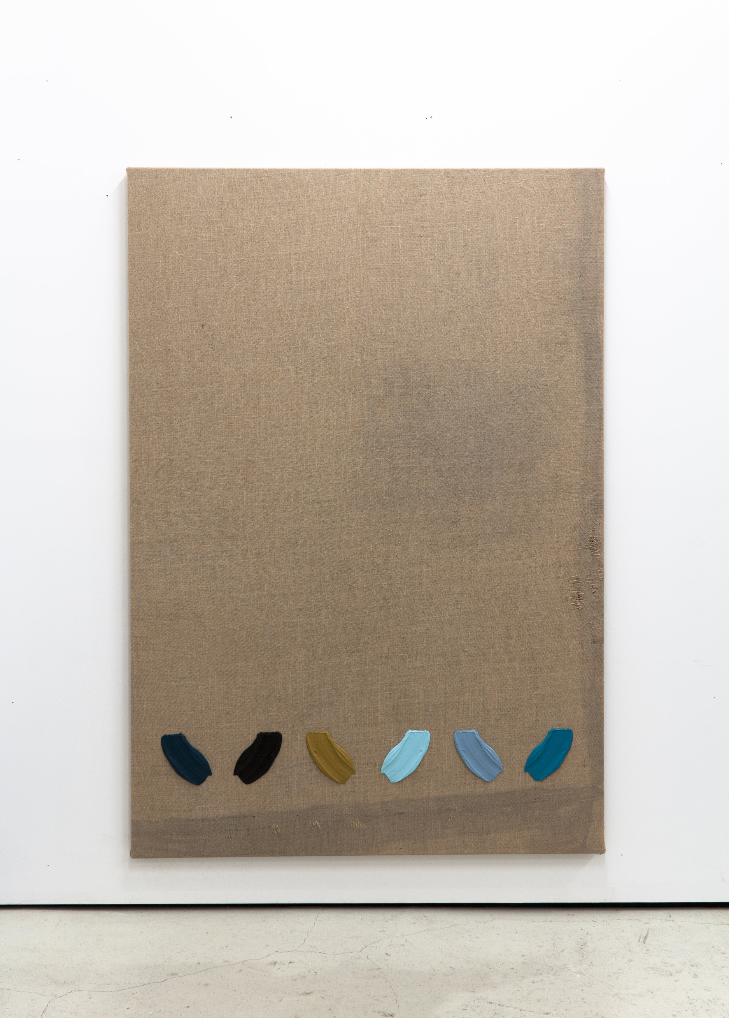 Untitled, 2019, Alkyd and acrylics on jute, 71 x 49.2 inches