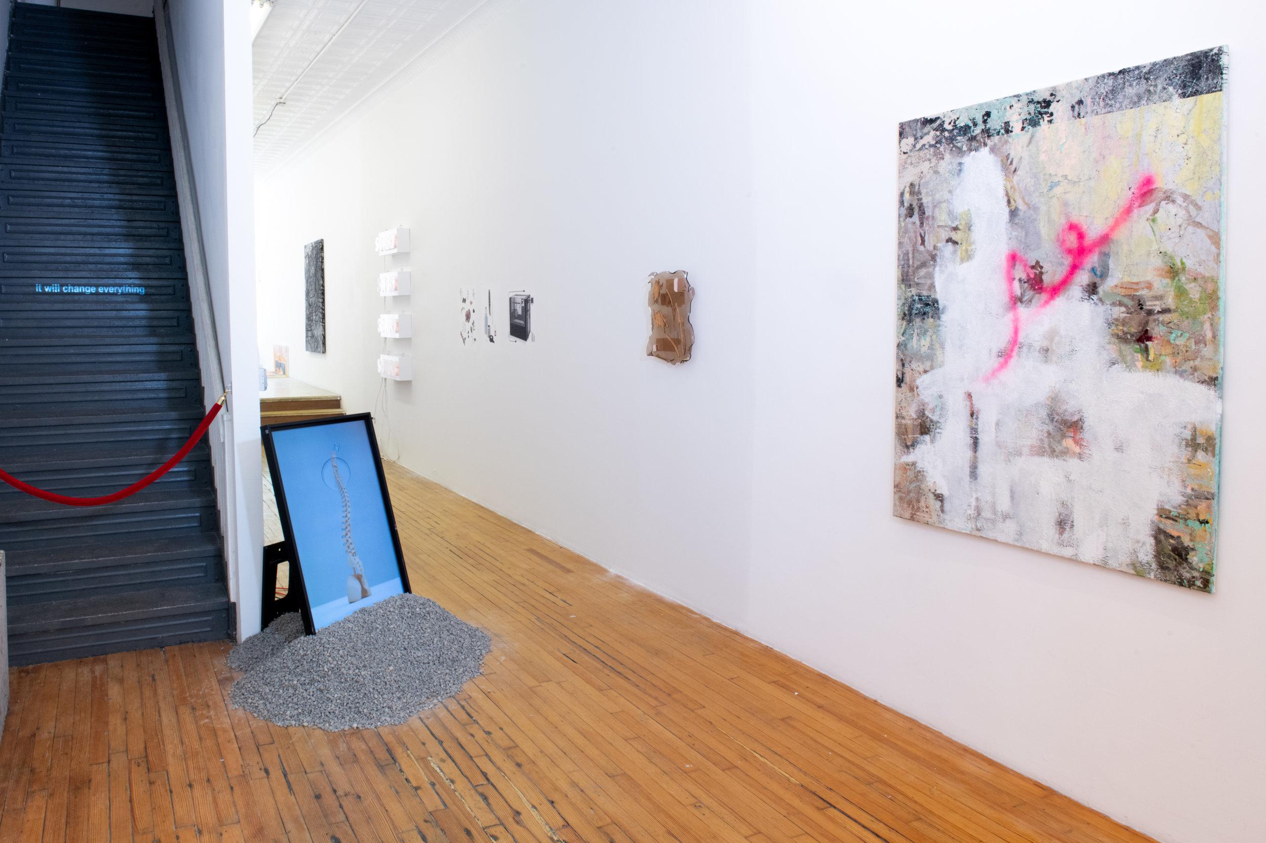 Here + Now Installation view at Pablo's Birthday Focus: Stine Deja, Liz Naiden, Jenni Brosinski, Hannah Sophie Dunkelberg, and Joshua Citarella Photograph by - Edoardo Cozzani