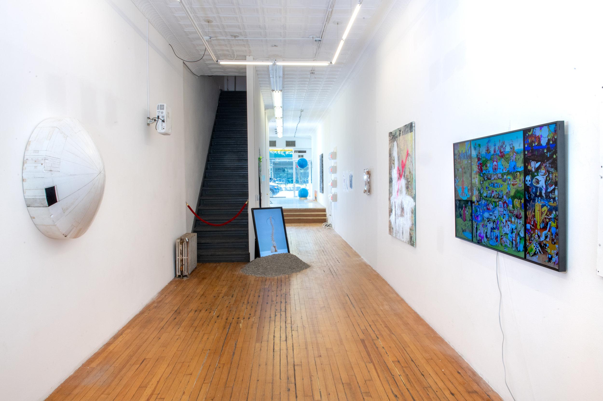 Here + Now Installation view at Pablo's Birthday Focus: Carla Gannis, Liz Naiden, Hiroyuki Hamada, Jenni Brosinski, and Stine Deja Photograph by - Edoardo Cozzani