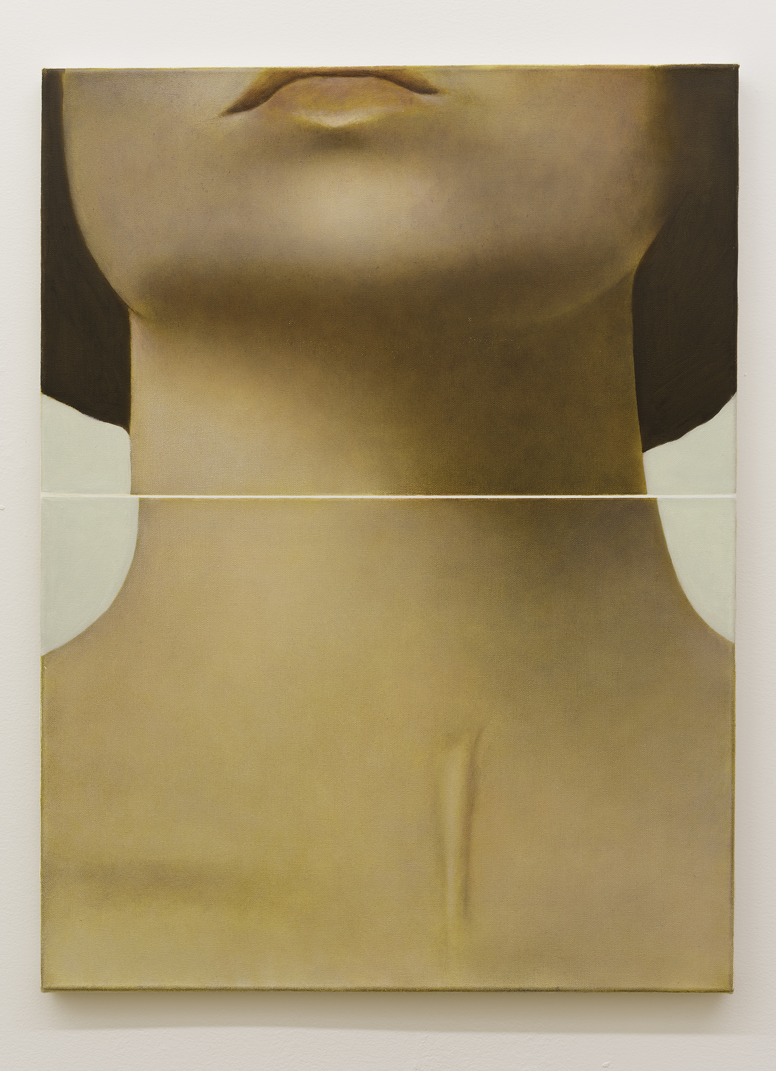 Louise giovanelli, split marker, 2019, oil on canvas, 23.6 x 19.6 in