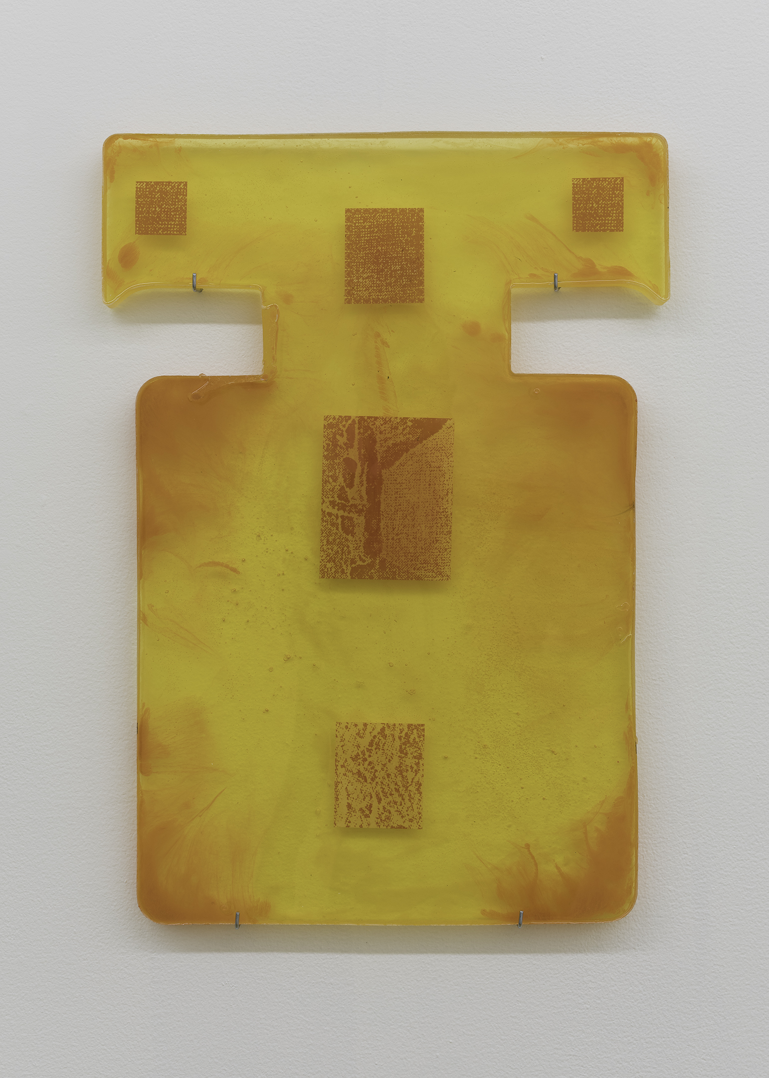 nina hartmann, how to depict a void, resin, pigment, acrylic, paper, xerox toner, 20 x 13 in