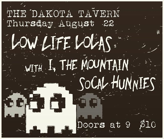 ⚠️Show Alert⚠️ We're playing at The Dakota Tavern on Thurs, Aug. 22nd with some sweet bands - @lowlifelolas and @ithemountain - Come get groovy! 🌴