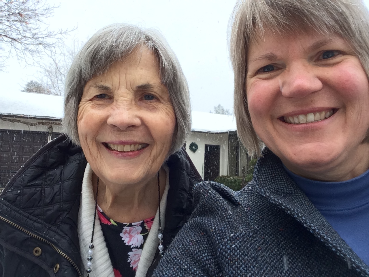 Laurie Berning - is so thankful for our supportive Hood View church family and looks forward to some heavenly vocal harmony lessons because she and her sister were a sore disappointment to their mom who tried to teach them.