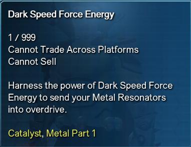 Dark Speed Force Energy Info