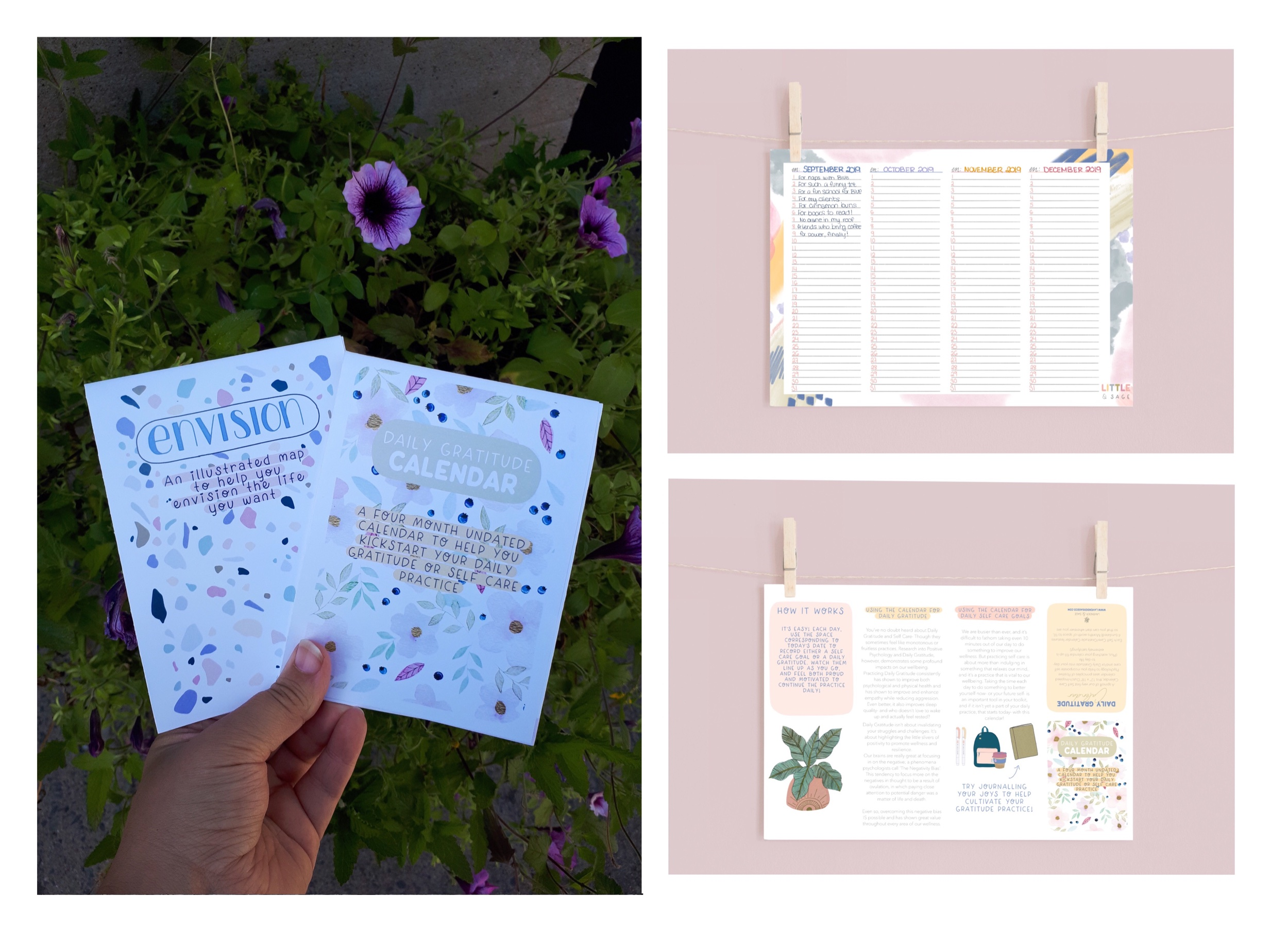 The Daily Gratitude Calendar by Lavender & Sage