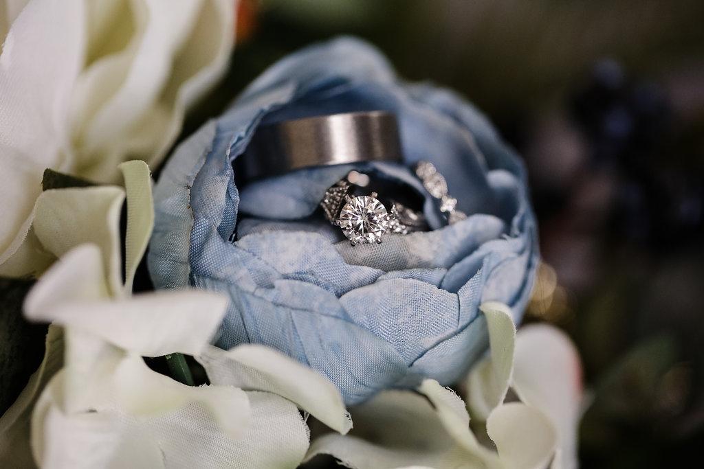 Copy of rings in bouquet