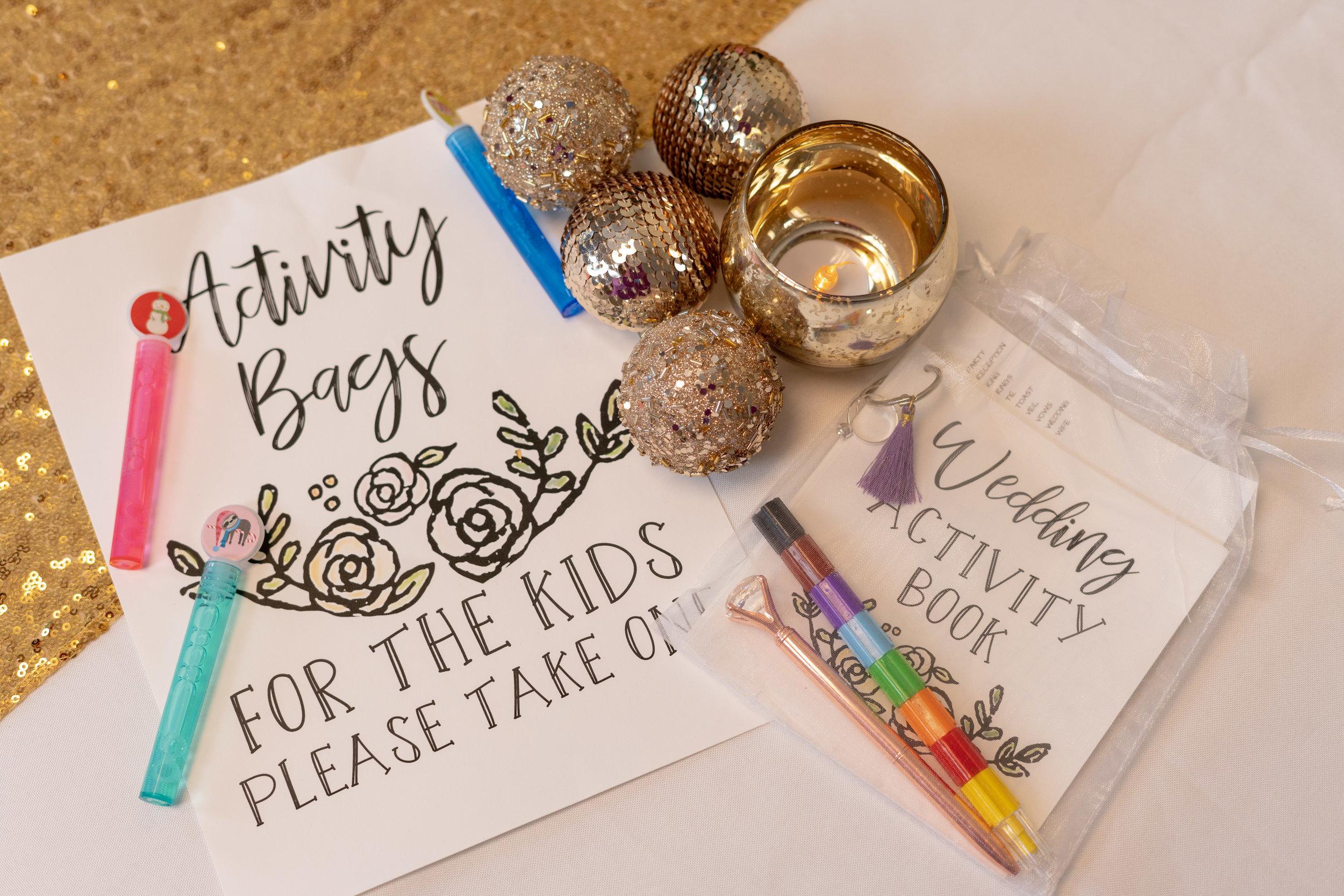kids wedding activity book