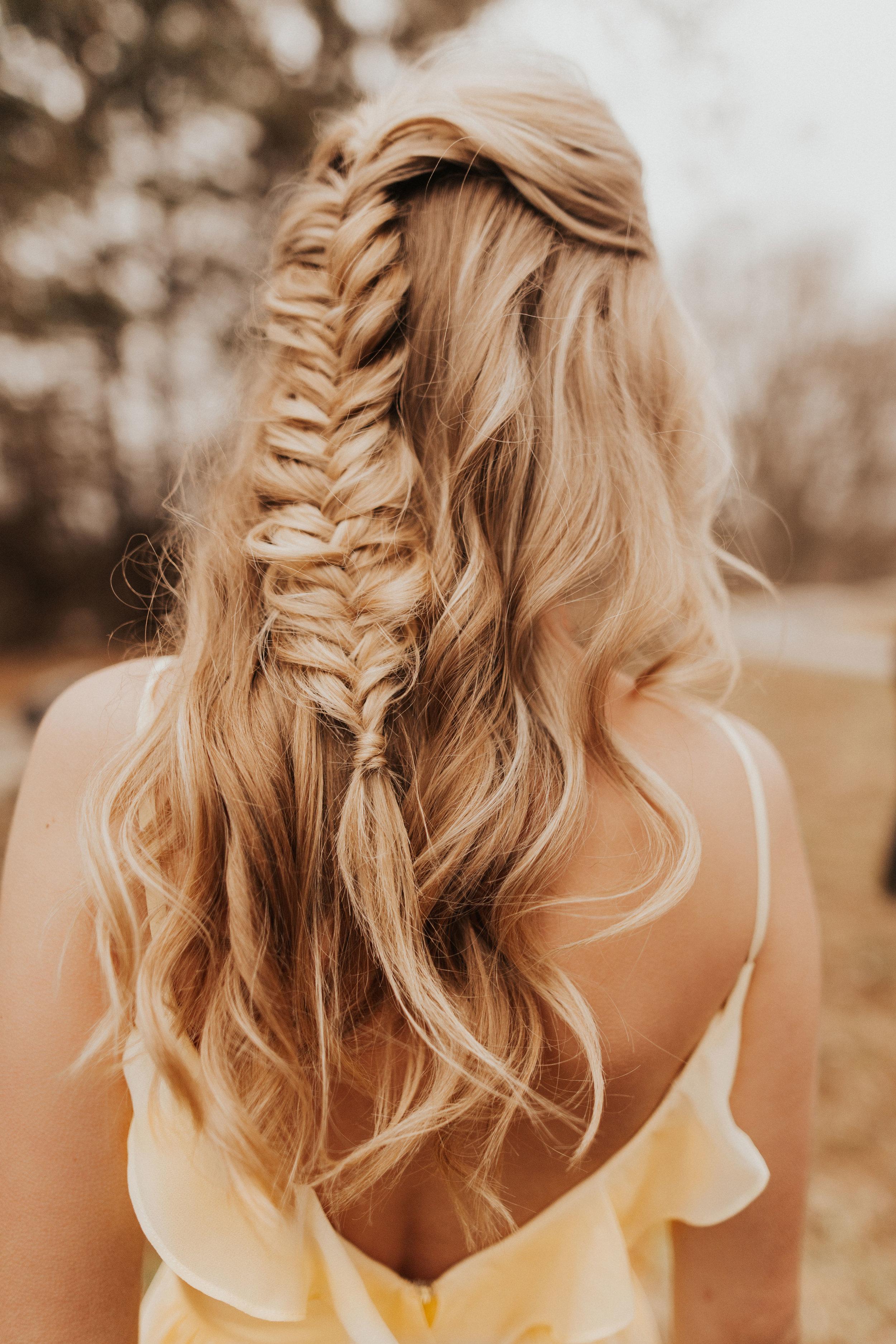 Bridesmaids braided hair