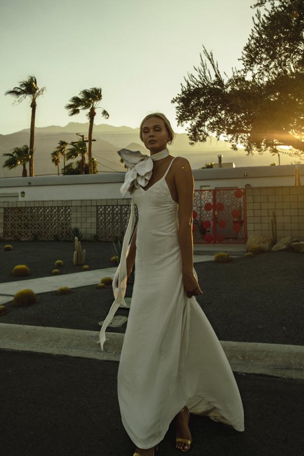 Piece 18 | Velvet slip wedding dress by L'eto Bridal