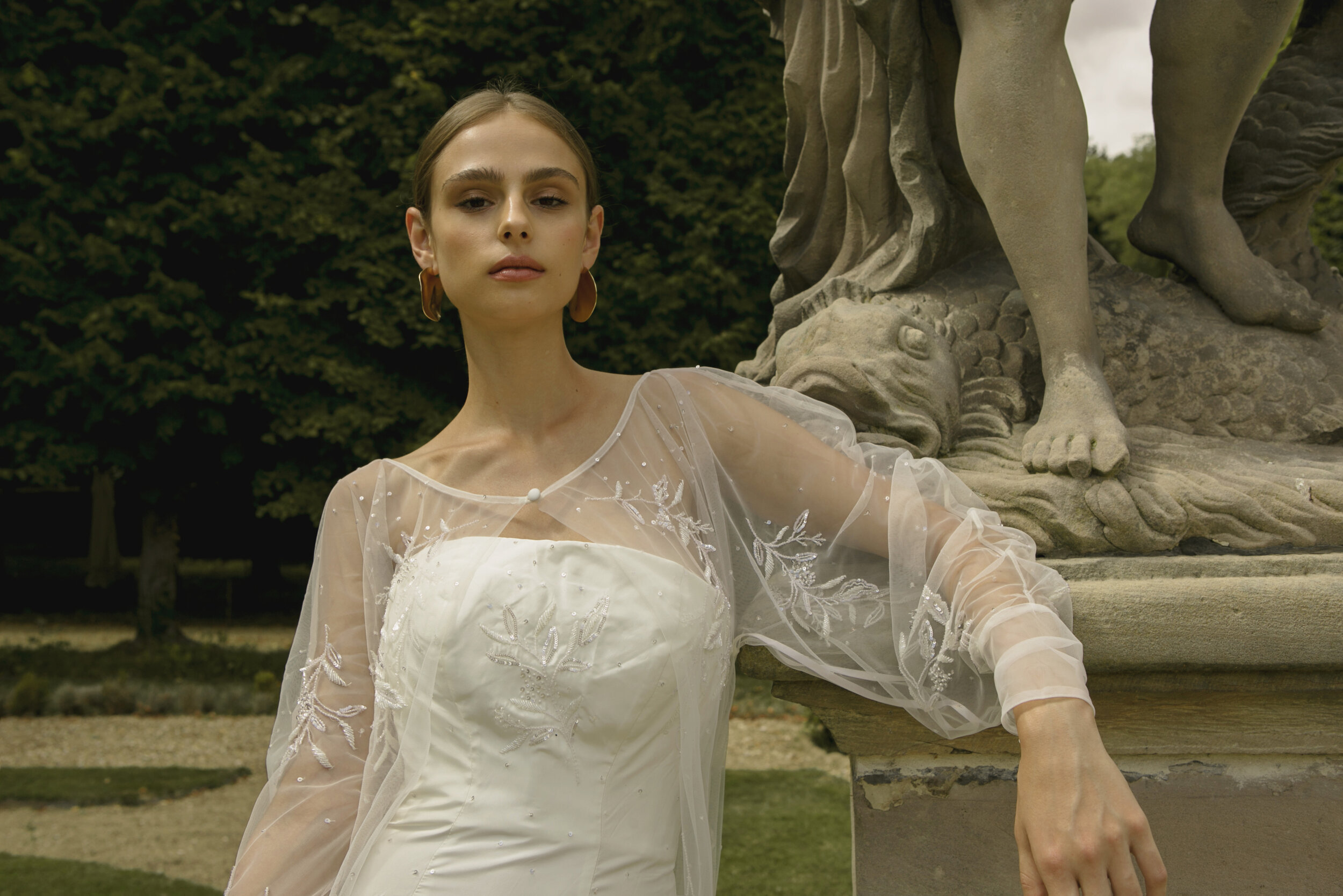 Piece 30 C | Bridal Beaded Cape by L'eto Bridal