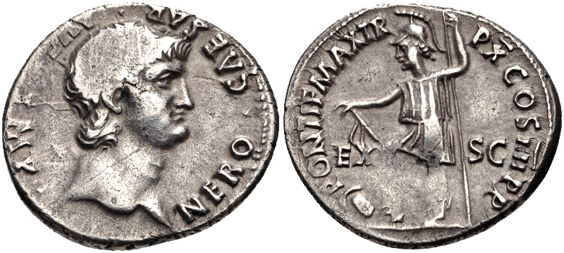 Coin minted by Nero | Photo by Classical Numismatic Group, Inc. via Wikimedia Commons