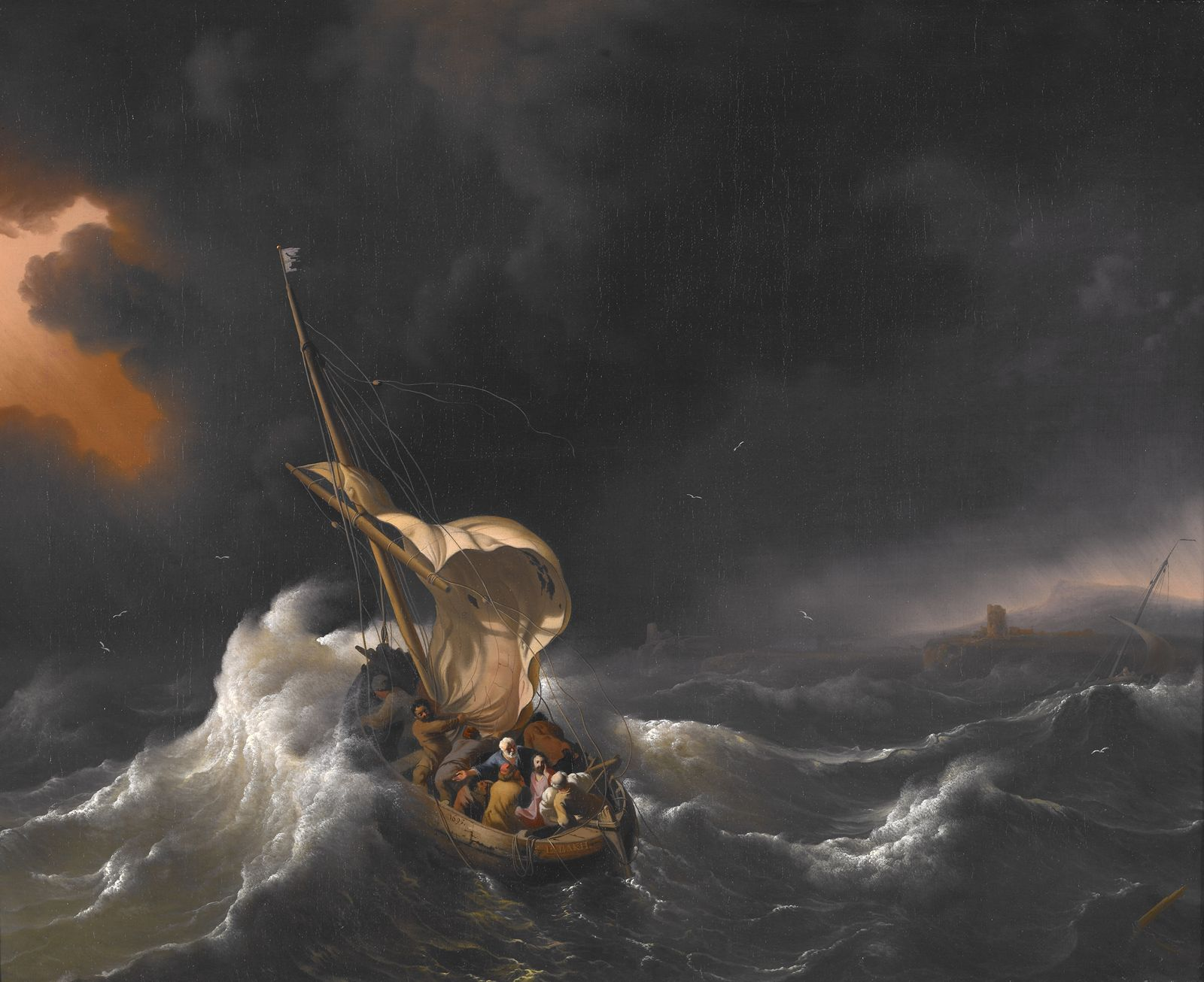 Christ in the Storm on the Sea of Galilee by Ludolf Bakhuizen - via Wikimedia Commons