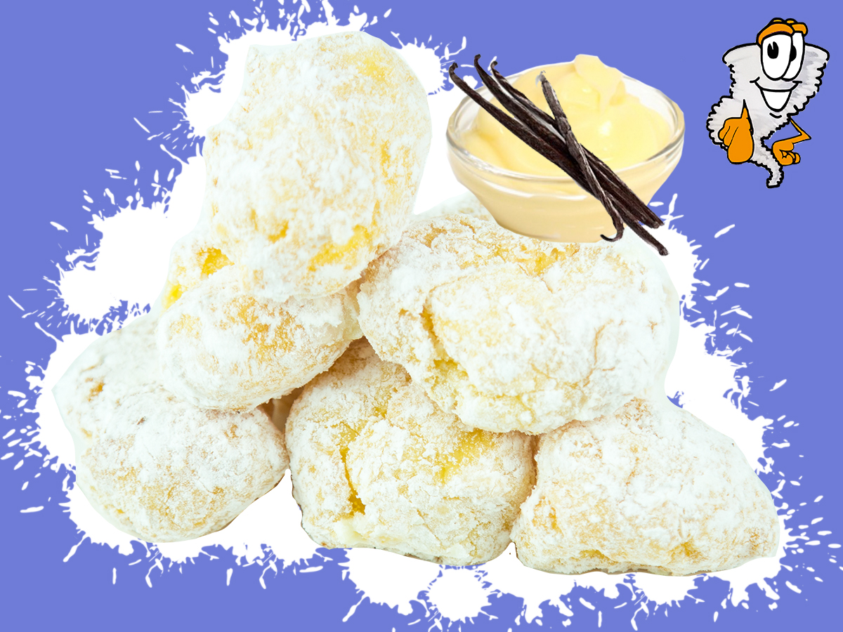 Cream Puffs - Filled with bavarian cream and coated with powder sugar$2.99 half dozen - $5.75 dozen