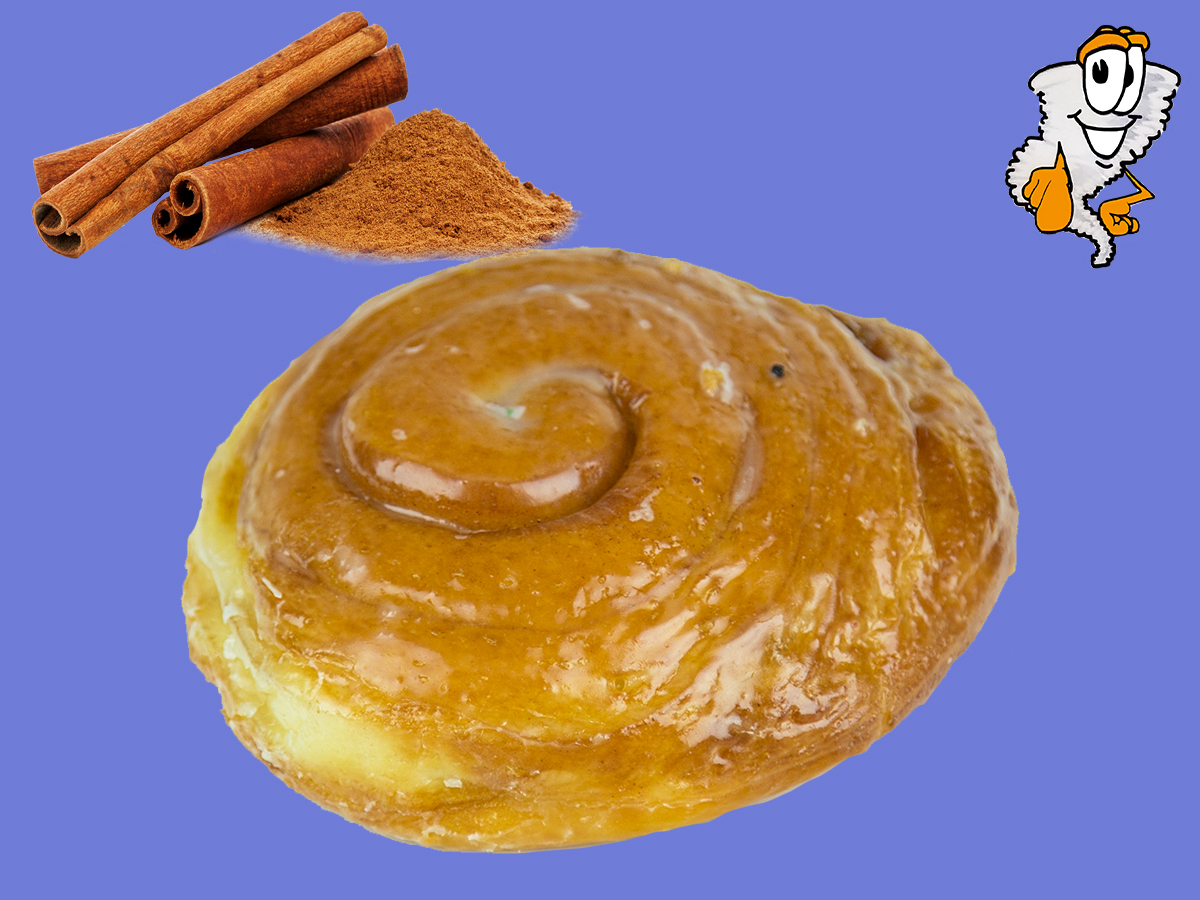 Cinnamon Roll - A different type of donut with cinnamon inside with an outside glaze$1.75 each - $19.99 dozen