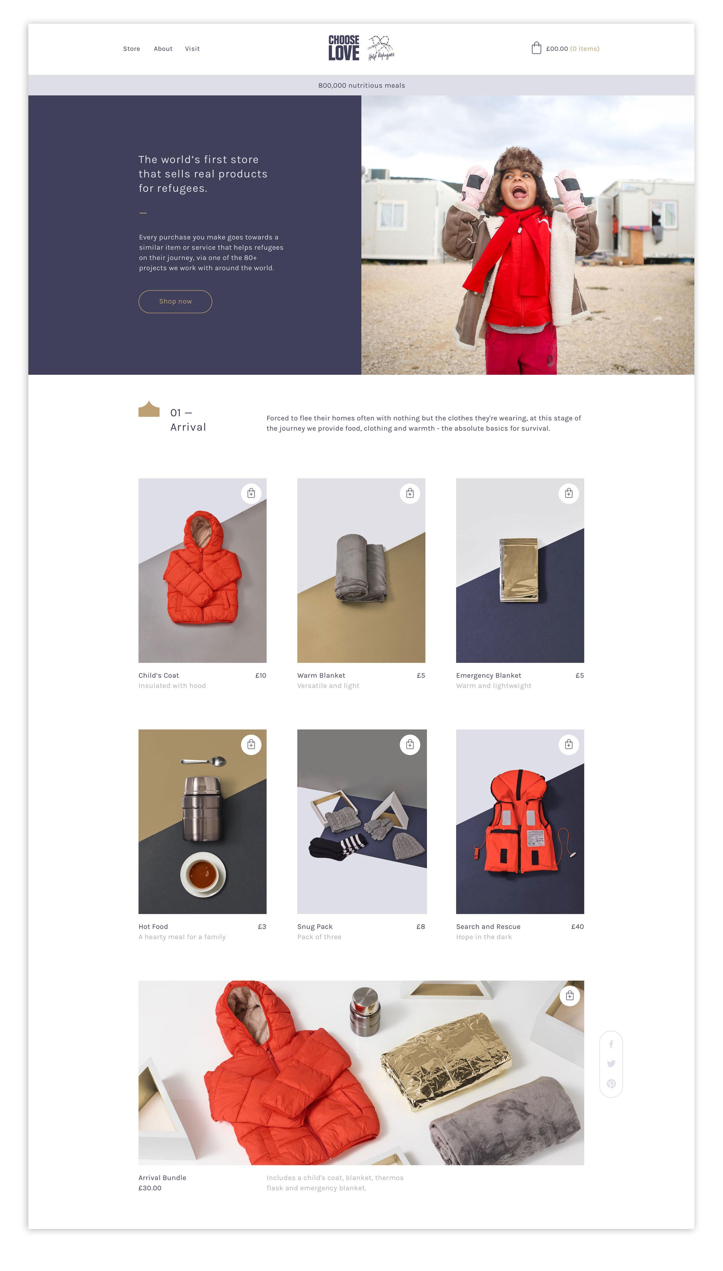 2018/19 Online store design