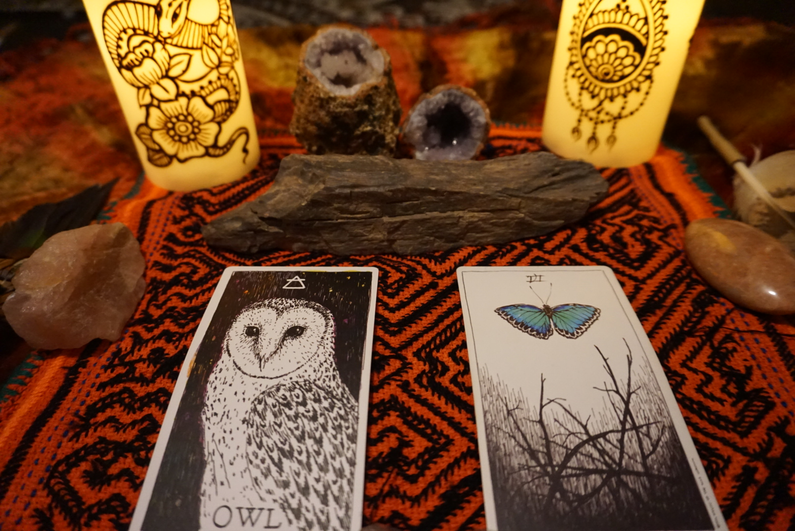 Collective Spread - Owl & Six of Wands