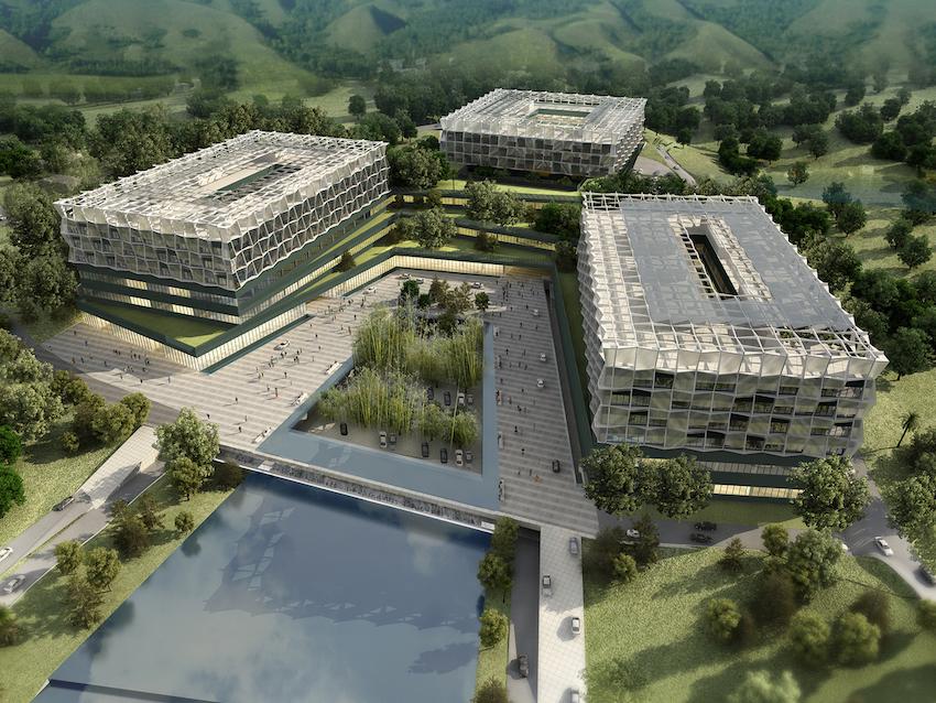Lemanarc事务所在南京市公共卫生医疗中心方案设计竞赛中获胜   2012年5月