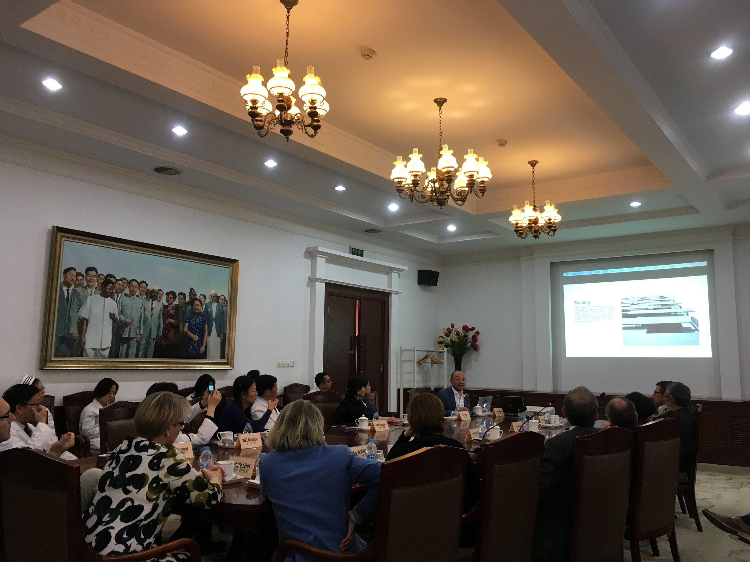 南京鼓楼医院文化,医疗,合作研讨会:加强国际发展与合作   2018年4月