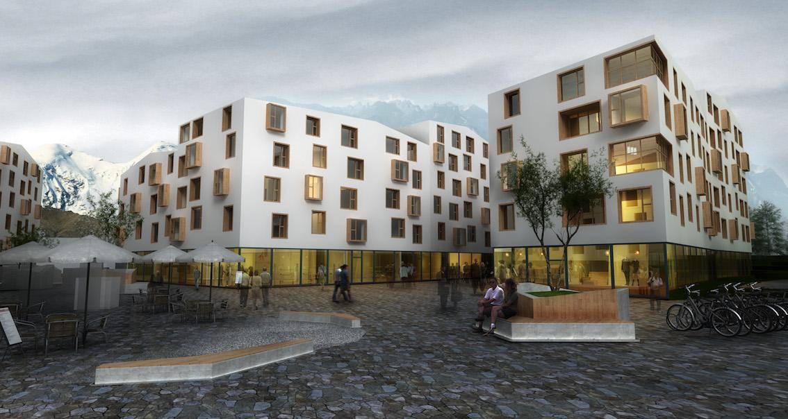 瑞士埃格勒旧城中心改造暨城市综合街区
