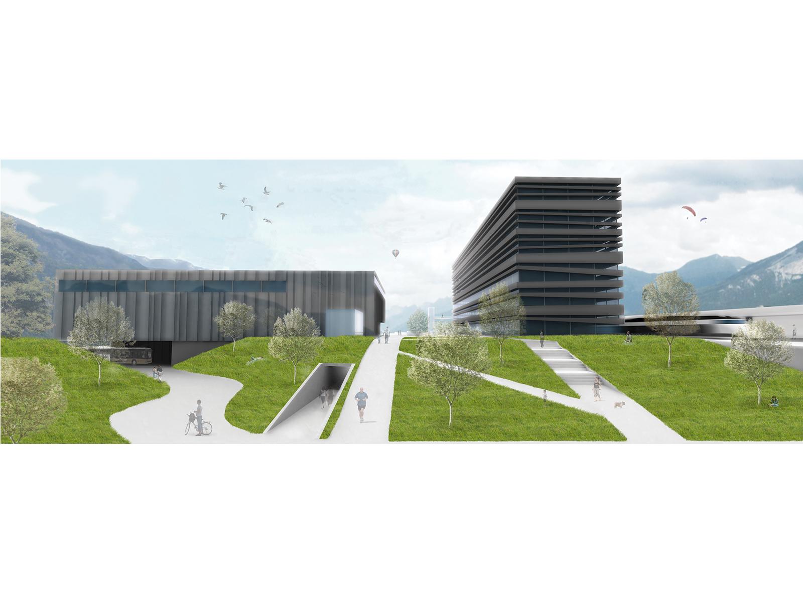 瑞士希尔南火车站综合楼  瑞士希尔