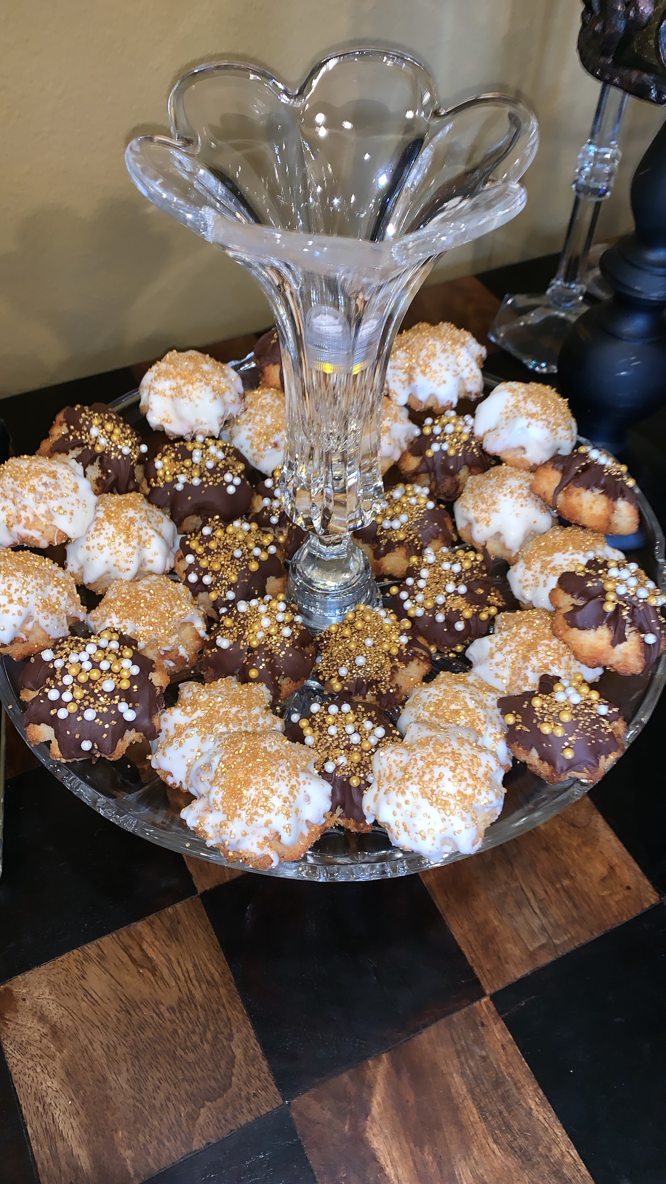 Chocolate dipped & decorated coconut macaroons