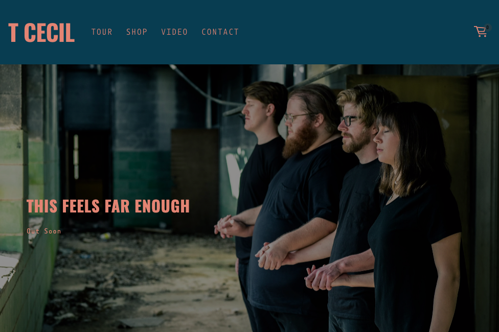 T Cecil - Houston art rock band working on their second EP release. Website created with Squarespace.