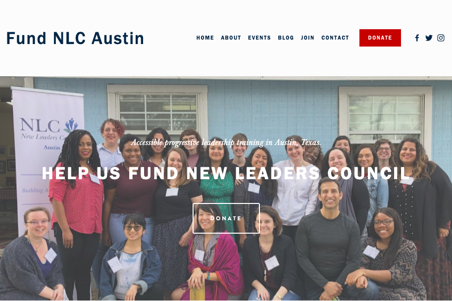 NLC Austin - New Leaders Council (NLC) is the hub for progressive millennial training & thought leadership. Website created with Squarespace.