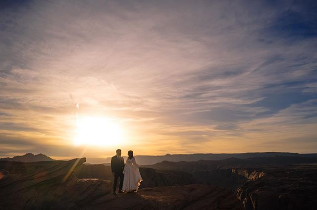 Nothing to see here. Just two newlyweds basking in the light of one of the best desert sunsets I've ever seen. NBD. 😭✨