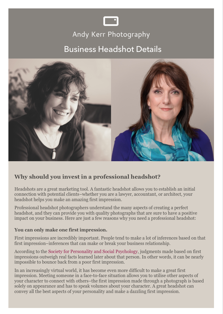 FREE Headshot article… - Click HERE for your FREE GUIDE